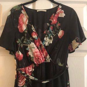 Black floral Illa Illa maxi dress